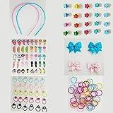 146 Piezas Accesorios Pelo Niña, accesorios para el pelo niñas, Pinzas de Pelo Niña y Gomas Pelo (A)