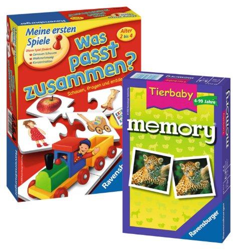 Ravensburger Spieleset - Was passt zusammen? und Tierbaby Memory - Set - 9120055083986