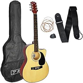 3rd Avenue STX10CANPK Pack de Guitarra Acústica Cutaway, Natural ...