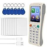 Fesjoy RFID NFC Card Copier Reader Writer, Handheld Key Machine iCopy 8 with Full Decode Function Intelligent Card Key Machine IC/I-D Reader Writer Duplicator