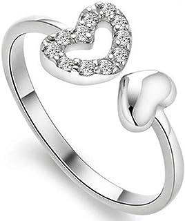 Che Bella 意大利设计师 Pia Chileri 一见倾心 银色开口可调节戒指 细圈手饰 时尚女戒 表白礼物 精美礼盒 R002