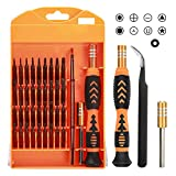 DAZAKA Juego de Destornilladores Mini Precisión 39 en 1 S2 Herramientas Desmontar Kit de Reparación para Smartphone, PC, Cámara, Reloj, Tablet PC, Gafas