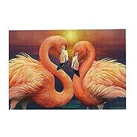 300ピース ジグソーパズル フラミンゴの絵 (2) 木製 DIY 大人 子供向け ブレインティーザー ゲーム 動物 風景 壁飾り 装飾画 人気 ギフト プレゼント ストレス解消