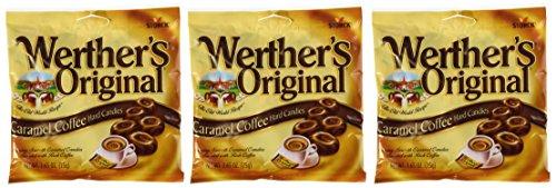 Werther's Original Caramel Coffee Hard Candies 2.65 oz 3 pack