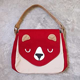 The Honey Bear Handbag (Burgundy)