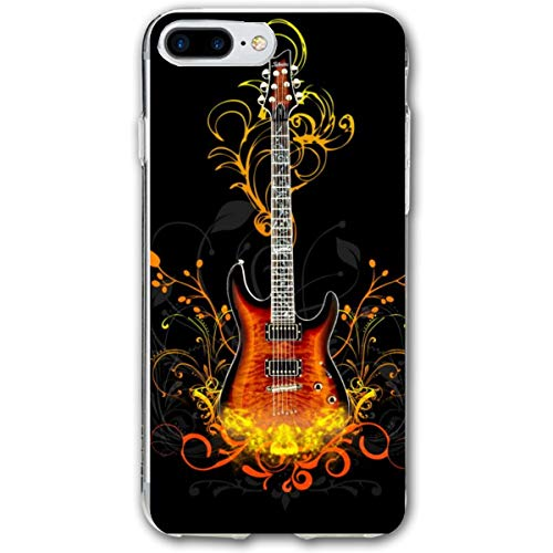 Rock Guitars Wallpaper iPhone 7 Plus Silicone Protective Case iPhone 8 Plus Rubber Case 5.5 Inch