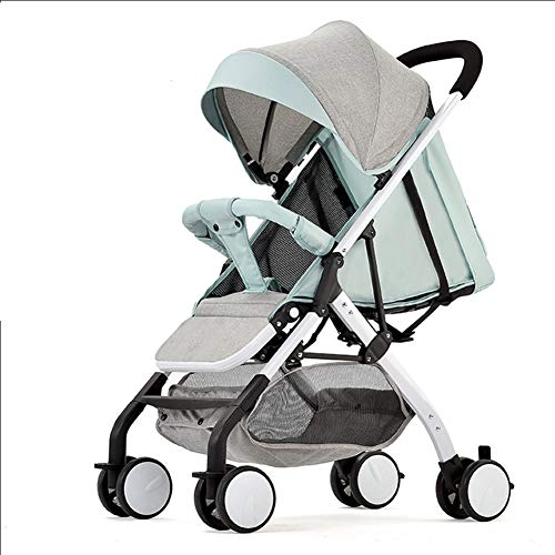 For Sale! LNDD-Portable Stroller Small Foldable Prams with Safe Five-Point Harness Travel System Adj...