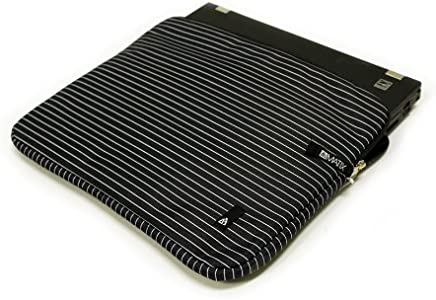 BLACK PINSTRIPE Cushy Bag Carrying Case Matix LAPTOP COMPUTER SLEEVE