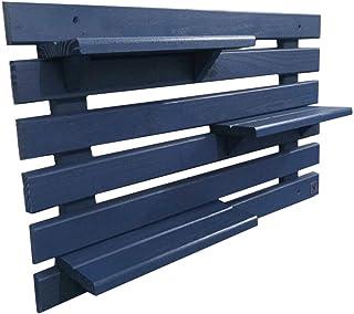 Floreira Vertical Madeira Alce Couch Vaso Parede Azul 60cm