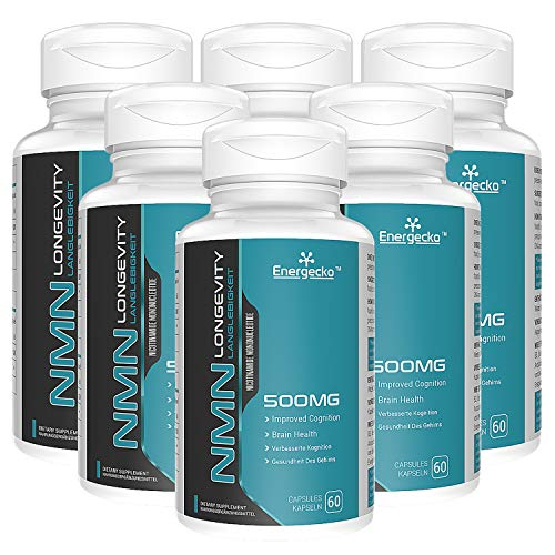 6 PCs NMN 500mg 60 Capsules - 60 Servings - High Absorption Nicotinamide Mononucleotide Supplement - Double The Usage time and Reduce The Purchase Cycle.