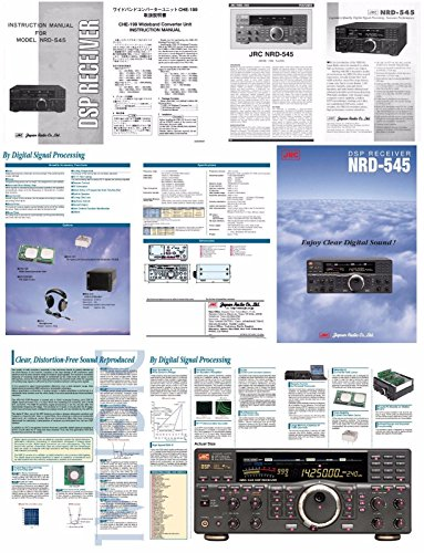 JRC NRD-545 PHOTOCOPY Instruction Manual + Schematics + Color BROCHURE in A 3 Ring Binder