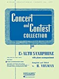 Concert and Contest Collections: E Flat Alto Sax With Piano Accompaniment
