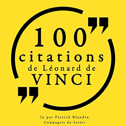 Couverture de 100 citations de Léonard de Vinci