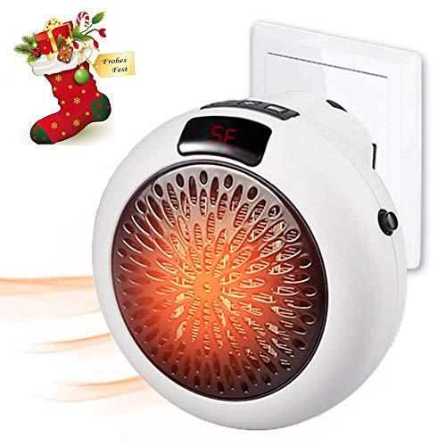 LQ&XL Portable Heater Mini Heizung für die Steckdose Heater mit Einstellbares Thermostat, 900W Tragbare und Geräuscharm, 12 Stunden Timer & Drehbarer Steckeradapter für Office/Home/Badezimmer,Weiß
