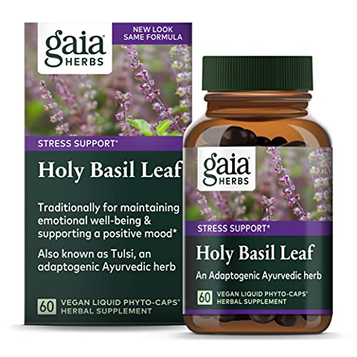 Gaia Herbs Single Herbs - Holy Basil Leaf 60 vcaps