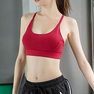 Womens Sports Bra Padded Comfort Women's Run Bras for Girls in Yoga Bralette Leisure Stretch Crop Tops Vest 2/3 Pack A M