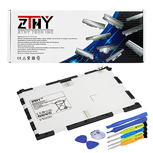 """ZTHY EB-BT550ABE Tablet Battery Replacement for Samsung Galaxy Tab A 9.7"""" SM-T550 SM-P550(WiFi) SM-T555 SM-P555(3G, 4G/LTE&WiFi) S-Pen Model SM-T555C SM-P351 EB-BT550ABA 3.8V 22.8Wh 6000mAh with Tools"""