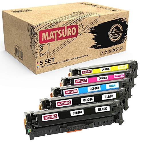 Matsuro Originale | Compatibili Cartuccia Del Toner Sostituire Per HP 304A CC530A CC531A CC532A CC533A (1 SET + 1 BK)