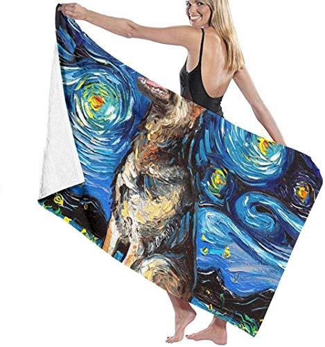 Las toallas de baño de microfibra súper suaves se utilizan para baños en interiores, piscinas de aguas termales y spa de hoteles,Starry Night de Vincent Van Gogh The FiveStar Hotel Quality Collect