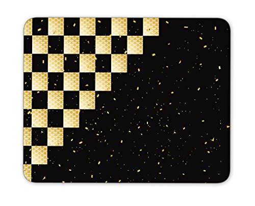 Checkered Background Mouse pad,Natural Rubber Mouse Pad, Quality Creative Wrist-Protected Wristbands Personalized Desk, Mouse Pad (9.5 inch x 7.9 inch)