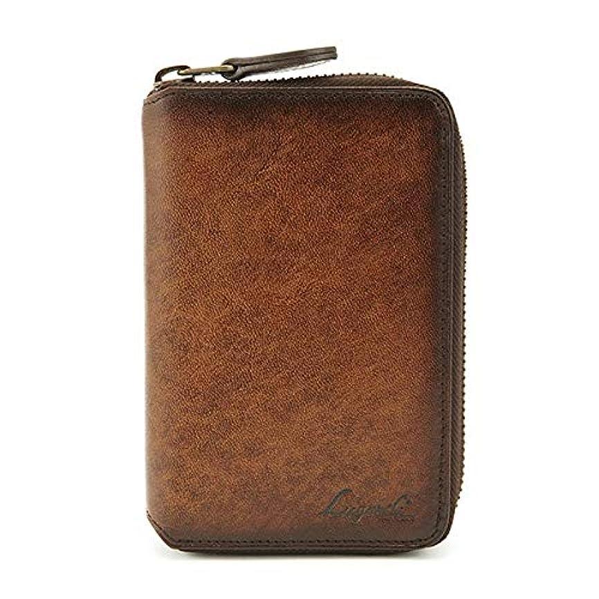 出血シンカン口述する青木鞄 二つ折り財布 メンズ ラウンドファスナー 本革 Lugard G-3 No.5190-10