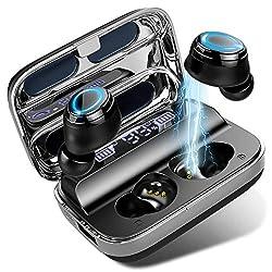 Design attentionné et apparence exquise: Ecouteurs bluetooth avec l'indicateur de batterie LED, la puissance restante ou la progression de la charge de la boîte de charge est claire en un coup d'œil. Ecouteur avec conception de miroir unique, crée un...