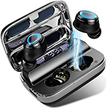 Donerton Wireless Earbuds, Bluetooth 5.1 Headphones 140 Hours Playtime Earphones with Charging Case, in Ear Headset IP7 Waterproof Earbuds Noise Cancelling Microphone, LCD Display, for Sports/Working