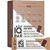 IQBAR Brain + Body Protein Bars, Chocolate Sea Salt, Keto, Vegan, Paleo Friendly, Low Sugar, Low Net...