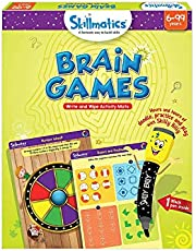 Skillmatics Educational Game: Brain Games (6-99 Years) | Erasable and Reusable Activity Mats | Travel Toy with Dry Erase Marker | Learning tools for Kids 6, 7, 8, 9  Years and Up