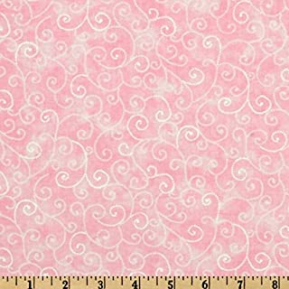 44`` Wide Moda Marble Swirls (9908-37) Pink Fabric By The Yard