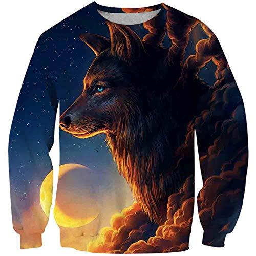 Niños Niñas 3D Animal Wolf Cool Hoodies Hip Hop Casual Streetwear Sudaderas con Capucha Picture Color15 4 Years