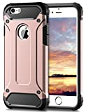 Coolden iPhone 6S Hülle, Premium [Armor Serie] iPhone 6 Outdoor Stoßfest Handyhülle Silikon TPU + PC Bumper Cover Doppelschichter Schutz Hülle für iPhone 6/6S (Rosegold)