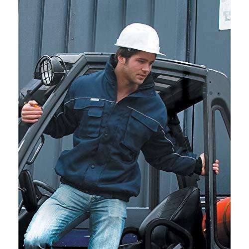 Result Mens Workguard Zip Sleeve Heavy Duty Water Repellent Windproof Jacket (XL) (Grey/Black)