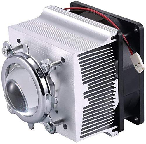 Tesfish Ventilador de aluminio del disipador de calor + lente de 44mm 60 grados para la viruta del LED