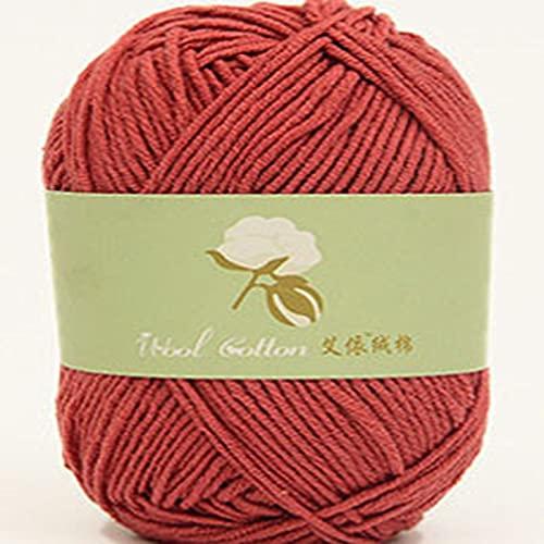 10 × 50 g hilo de tejer doble súper suave y cálido algodón con leche, de algodón de fibras...