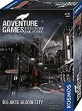 KOSMOS 695200 Adventure Games - Die Akte Gloom City. Entdeckt die Story, Kooperatives Gesellschaftsspiel für 1 bis 4 Spieler ab 16 Jahre, spannendes Abenteuer-Spiel