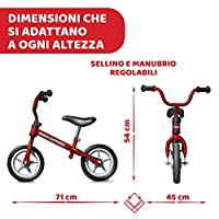 Chicco Red Bullet Bicicletta Bambini Senza Pedali 2-5 Anni, Bici Senza Pedali Balance Bike per l'Equilibrio, con Manubrio e Sellino Regolabili, Max 25 Kg, Rosso, Giochi Bambini 2-5 Anni #2