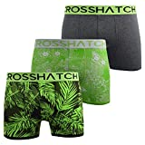 Crosshatch Mens Boxers Shorts Multipacked 3PK Underwear Gift Set 3 Pack Tresco(XL,Green)