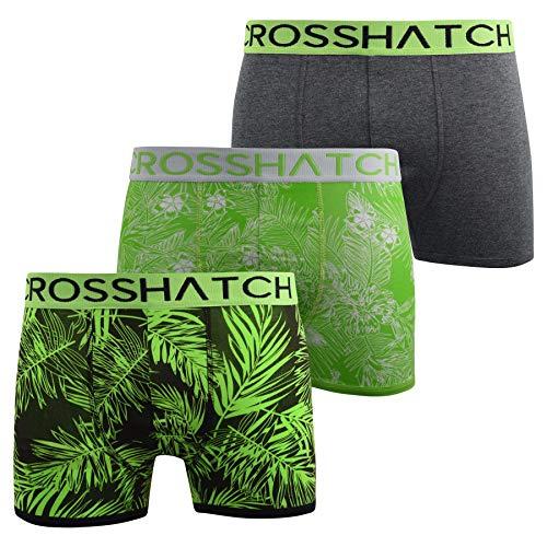 CrossHatch Mens Boxers Shorts Multipacked 3PK Underwear Gift Set 3 Pack Tresco(XXL,Green)