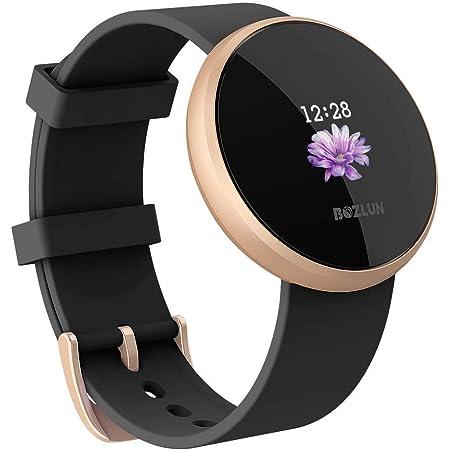 Smartwatch Donna Uomo Cardiofrequenzimetro, Smart Watch Android iOS, Orologio IP68 Sveglia automatica impermeabile Schermo Smart Watch Cellulare(Nero)