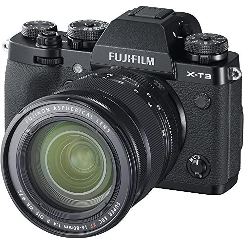 Fujifilm X-T3 Fotocamera Digitale Mirrorless 26Mp con Obbiettivo Xf16-80Mmf4 R Ois Wr, Filmati 4K, Mirino Evf, Schermo...