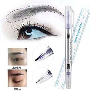 KuierShop(TM) 2Pcs Lip Liner Microblading Measuring Measure Ruler Tattoo Eyebrow Marker Pen