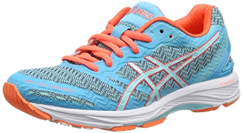 ASICS Damen Gel-DS Trainer 22 Laufschuhe, Blau (Aquarium/Aqua Splash/Flash Coral), 39 EU