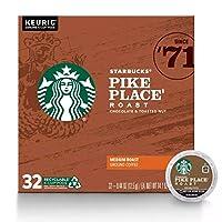 Keurig スターバックス [パイクプレイス] K cup コーヒー 32個入り ミディアムロースト / Starbucks Pike Place Coffee - Keurig K-Cup Pods [海外直送品] [並行輸入品]
