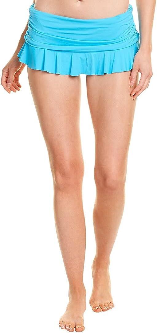 La Blanca Women's Standard Island Goddess Skirted Ruffle Hipster Bikini Swimsuit Bottom
