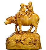 Estatuas Figuras de madera para joyería de mascotas y niños pequeños montados en la espalda de las v...