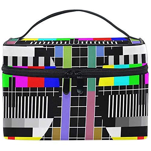 Cosmetische Tassen Test TV Scherm Grote Reizen Make-up Organizer Toilettas Zak Waszak 9x6.5x6.2inch
