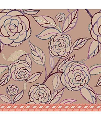 Zucchi Einrichtungsfoulards Tagesdecke Bettüberwurf »Camelia« der Marke by Bassetti geblümte Optik in Puder Rose Göße V1: 180 x 270 cm in 100prozent Baumwolle