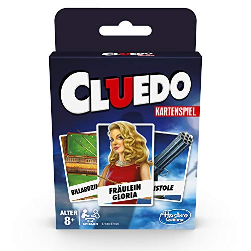Hasbro Gaming E7589GC0 Cluedo Kartenspiel für Kinder ab 8 Jahren, Strategiespiel für 3–4 Spieler
