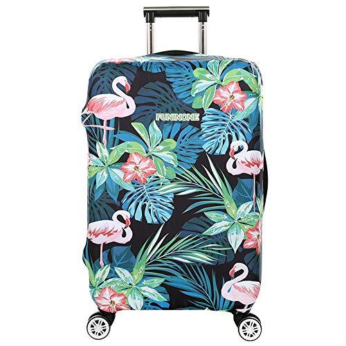 BBOOXX Kofferbezüge Wagen Schutzhülle Digital Drucken Flamingo Verdicken Junge Mädchen Persönlichkeit Muster Reise Gepäck Staubschutzhaube 6-XL(29-32 Inch)